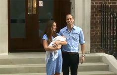 First pictures of royal baby as William and Kate introduce him as they leave hospital - hellomagazine.com