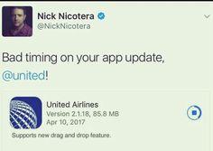 Bad timing United Bad timing!