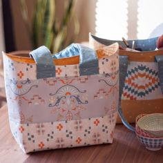 FREE sewing pattern for our Bucket Basket Tote! Easy, fun & oh so addicting! Show off your fave new fabric crushes! Great for beginners!