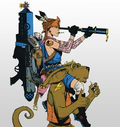Tank Girl, when I was 12 I wanted to be her. In fact. I thought I was her.