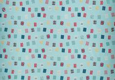 Bunting Sky Blue PVC Fabric - aww love this, v cute!