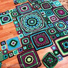 Mellie Blossom's CAL. These are beautiful squares!
