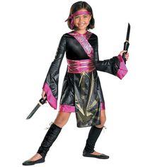 Dragon Ninja Costume - Kids, Girl's, Size: 10-12, Multicolor