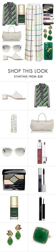 """Boss at work"" by pulseofthematter ❤ liked on Polyvore featuring Maryam Nassir Zadeh, Mary Katrantzou, Amanda Wakeley, Ray-Ban, Christian Dior, Dolce&Gabbana, Forzieri and Anne Sisteron"