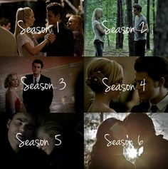 The Vampire Diaries | Stefan and Caroline #Steroline through the seasons