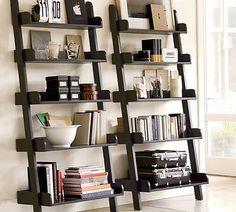 5-Tier-Black-Leaning-Ladder-Wall-Shelf-Display.jpg (400×360)