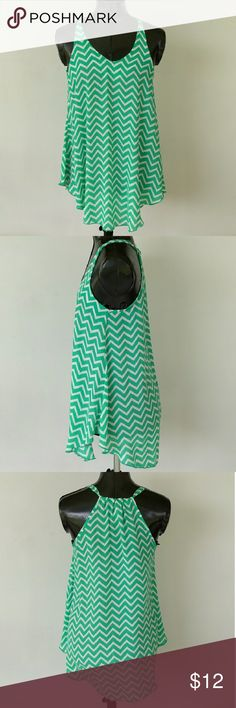 Flowy Chevron Racerback Tank Top In great condition! Flowy, no stretch. Size small Tyche Tops Tank Tops