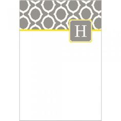 Grey Chain Link Flat Notecards