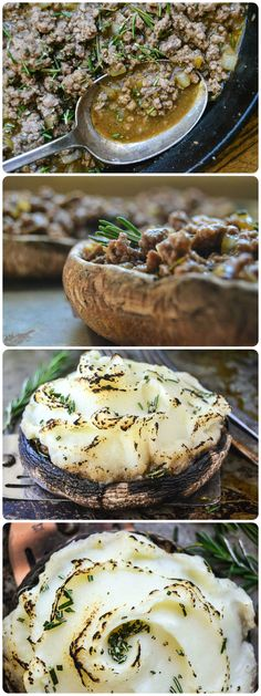 Portobello Shepherds Pie - Use celery root instead of potatoes