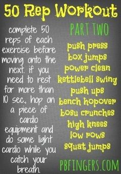 The 50 Rep Workout (Version 2)