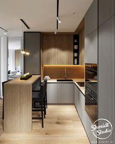 How to design your kitchen design in a thematic area – lamp ideas Kitchen Room Design, Kitchen Cabinet Design, Modern Kitchen Design, Home Decor Kitchen, Kitchen Furniture, Interior Design Living Room, Home Kitchens, Loft Kitchen, Luxury Kitchens