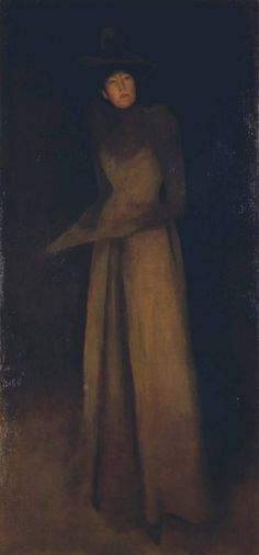 James McNeill Whistler: 'Harmony in Brown: The Felt Hat',
