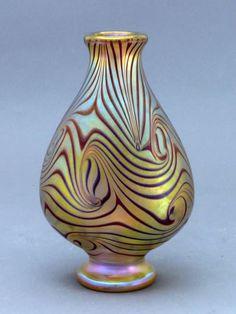 Orient & Flume King Tut Medium Vase h Crystal Glassware, Antique Glassware, Waterford Crystal, Mosaic Glass, Glass Art, Modern Glass, Handmade Beads, Antique Art, Love Art