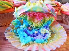 Easier Than They Look! Tie Dye Cupcakes!