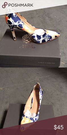 Vince Camuto - Kain Purple multi floral fabric pump Vince Camuto Shoes Heels