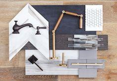 Innenausbau von Carlyle Designs www. Mood Board Interior, Interior Design Boards, Interior Design Kitchen, Interior And Exterior, Interior Decorating, Design Palette, Concept Board, Decoration, Design Inspiration