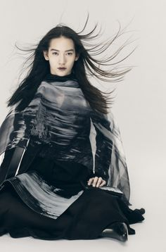 "Mona Matsuoka for Yohji Yamamoto ""DISCORD"""