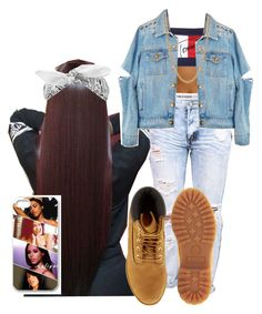 """The Hurricane Passed Now, HOCO Week (Aaliyah) "" by shamyadanyel ❤ liked on Polyvore featuring Tommy Hilfiger, Hush, Timberland, Biala and Givenchy"