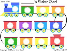 This FREE train printable sticker chart can be used for a variety of things; like potty training or good behavior. It allows you to reward your toddler without giving them candy or toys. Works great and a must grab for all moms! Behavior Sticker Chart, Sticker Chart Printable, Behavior Chart Preschool, Toddler Sticker Chart, Potty Training Sticker Chart, Behavior Chart Printable, Behavior Chart Toddler, Toddler Chart, Behaviour Chart