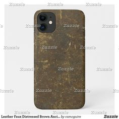 Shop Leather Faux Distressed Brown Ancient Rustic Case-Mate iPhone Case created by camcguire. Iphone 11, Apple Iphone, Iphone Cases, Customizable Gifts, Plastic Case, Rustic, Brown, Leather, Country Primitive