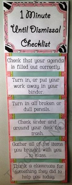 Great idea for end of the day.
