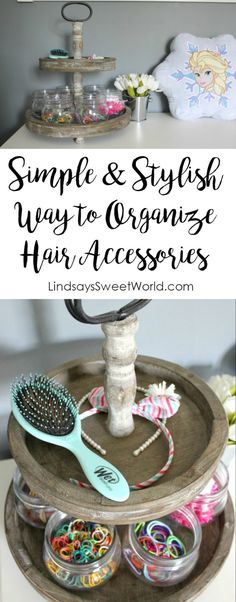 Lindsay's Sweet World: Simple & Stylish Way to Organize Hair Accessories
