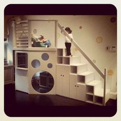 playroom - this this is exactly like the space under our basement stairs!