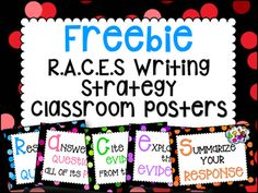 FREEBIE RACE Writing Strategy Classroom Posters *FREE* - What is the best season for doing sports? Calling summer is true, and winter is… In fact, i. Races Writing Strategy, Race Writing, Writing Strategies, Teaching Writing, Writing Ideas, Third Grade Writing, 6th Grade Ela, Middle School Writing, 4th Grade Reading