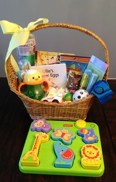 The best easter basket ideas for 1 year old boys pinterest 95 easter basket ideas for babies and toddlers negle Image collections