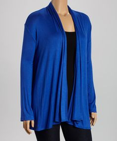 Royal Open Cardigan - Plus by GLAM #zulily #zulilyfinds