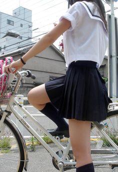Aesthetic Japanese schoolgirl