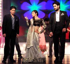 Shah Rukh Khan, Drashti Dhami & Vivien Dsena on the sets of 'Madhubala: Ek Ishq Ek Junoon' #Bollywood #Fashion