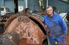 Rencontre avec Marc Morvan, poète et sculpteur basé à Quimper qui réalise un homard géant à l'occasion de Brest 2016 avec LOCARMOR comme part§enaire.
