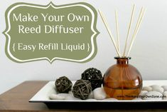 She did the research - Make Your Own Reed Diffuser Liquid - easy homemade recipe to refill your reed diffuser bottles!