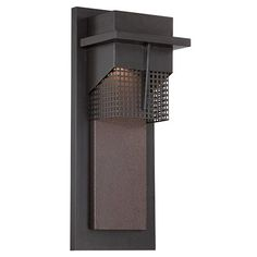 Beacon Burnished Bronze 7-Inch Wide LED Outdoor Wall Lantern