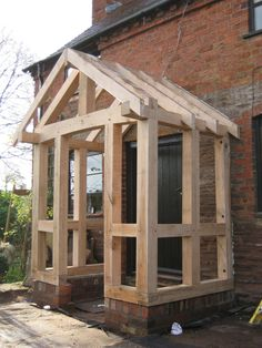 Timber frame porch - YouTube