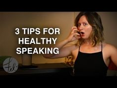 3 Tips for Healthy Speaking - How to Talk with Confidence / http://www.BeltingCrashCourse.com - Take my FREE 3-video belt singing course! This video provides...