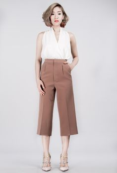 Brown culottes  #solasabrand #pants #trousers #madetoorder
