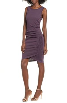 238cd717d2ae4 Free shipping and returns on Leith Ruched Body-Con Tank Dress at  Nordstrom.com