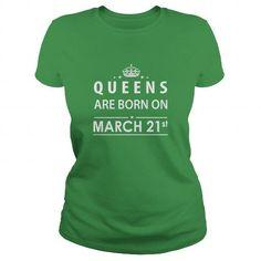 Born March 21 Queen Shirts TShirt Hoodie Shirt VNeck Shirt Sweat Shirt for womens and Men - Hot Trend T-shirts