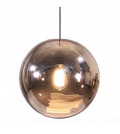 HK-living Hanging palla di vetro della lampada, il rame, Ø30cm - lefliving.com