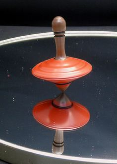 Wooden Spinning Top  Hand Made  One of a Kind by AmericanCarver, $15.00