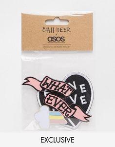 OHH DEER | Juego de parche para planchar y emblema For Never de Ohh Deer en ASOS
