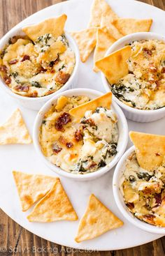 Roasted Garlic and Bacon Spinach Dip.