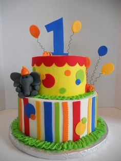 First Birthday Carnival Cake By SugarKissesCakery on CakeCentral.com