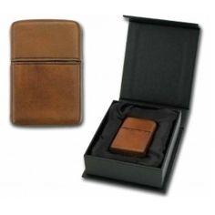 Mechero Zippo MD PE-8 D. Brown leather.