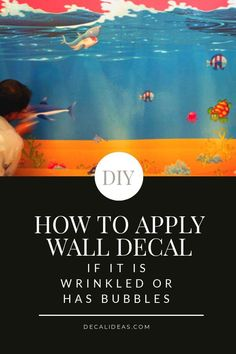 How to Apply a Wall Decal when it is wrinkled or has bubbles. Wall Stickers Reading, Jungle Wall Stickers, Girls Wall Stickers, Wall Decor Stickers, Nursery Wall Decals, Modern Wall Decals, Custom Wall Decals, Kids Wall Decor, Room Decor
