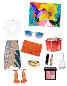 A fashion look from August 2016 featuring white cotton shirt, textured skirt and holiday shoes. Browse and shop related looks. Holiday Shoes, Aquazzura, Paul Smith, Essie, Pleated Skirt, Alexander Wang, Polyvore Fashion, Givenchy, Ray Bans