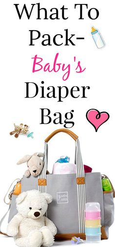 parenting tips - What to Pack in Baby's Diaper Bag