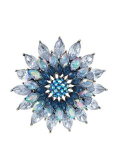 Beyond 50% OFF Lulu Frost 1920's Art Deco Blue Sunburst Brooch